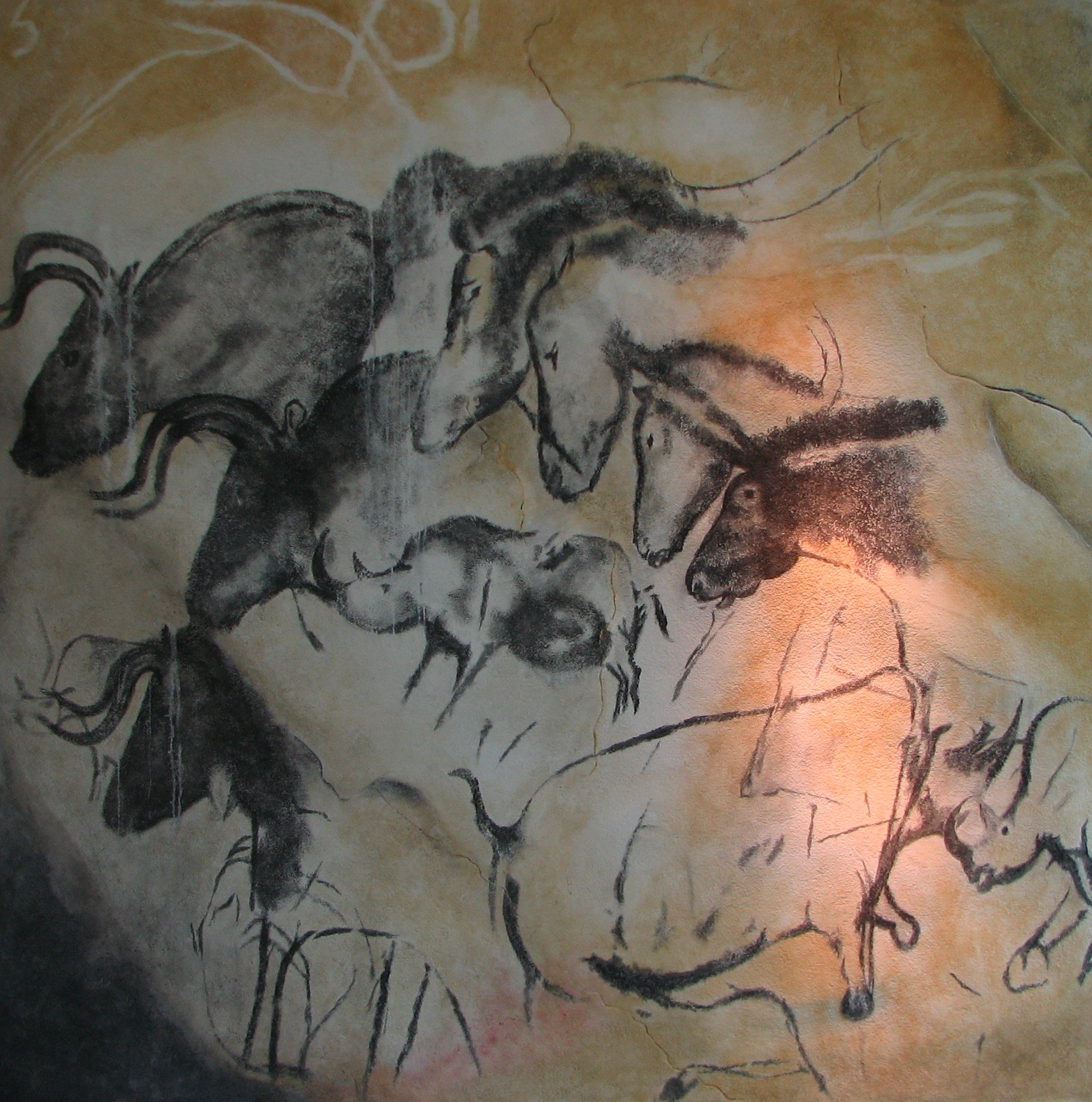 Paintings from the Chauvet cave.jpg